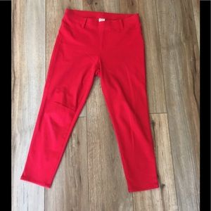 Faded Glory Red Leggings with back pockets